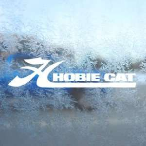 HOBIE CAT White Decal Window Laptop Vinyl White Sticker