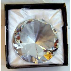 320g Crystal Diamond Shaped Glass Paperweight 3.25x2