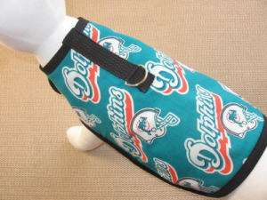 NFL Miami Dolphins Dog Harness Clothes Coat