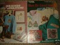 LEISURE ARTS TWO BOOKS SWEATSHIRT CROSS STITCH PATTERNS