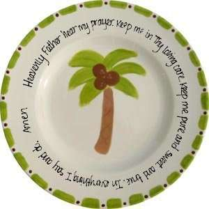 personalized prayer plate   palm tree