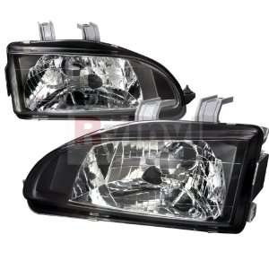 Honda Civic 1992 1993 1994 1995 Euro Headlights   Black Automotive