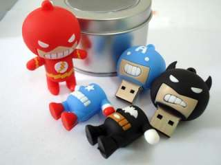 Cartoon Batman The Flash Super Man USB flash memory drive Pen U disk
