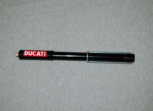 Ducati Bevel Single Tire Pump, 175 250 350 450 Red