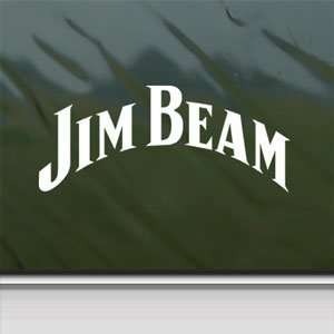 Jim Beam White Sticker Vintage Car Laptop Vinyl Window