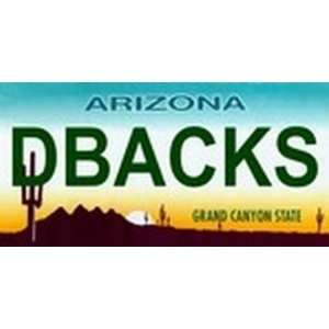 Arizona State Background License Plates   Dbacks Plate Tag