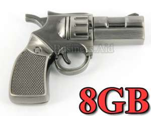 New 8GB Mini Gun Shape USB 2.0 Flash Drive   Metal Case