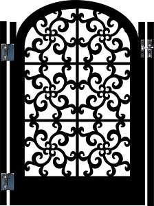 METAL GATE SALE DESIGNER WROUGHT IRON GARDEN ORNAMENTAL ART ENTRY