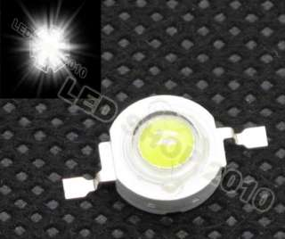 100pcs 1W White LED Without board Star HIGH POWER 100LM 140°light DIY