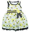 CARTERS Toddler Girls 3T White Yellow Sundress Dress