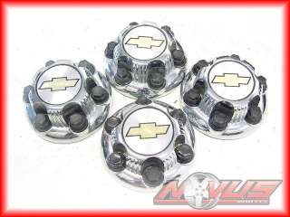 SILVERADO GMC SIERRA TAHOE FACTORY OEM STEEL CHROME WHEELS CAPS 20