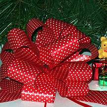 RIBBON DECORATIONS CHRISTMAS WREATH TREE BUY 3 PACKS 4TH FREE