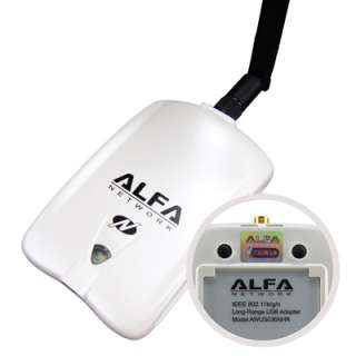 ALFA AWUS036NHR 2W High Power Wireless N USB WLAN Network Adapter w