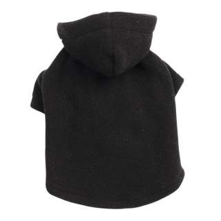 Casual Canine Basic Fleece Dog Hoodie Black
