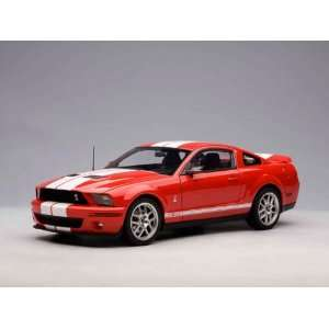 Ford Shelby Cobra GT 500 1/18 Red w/ White Stripes Toys