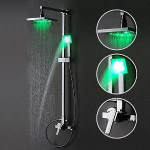 Single Handle Wall Mount Rain Shower Faucet with Adjustable Slide Bar