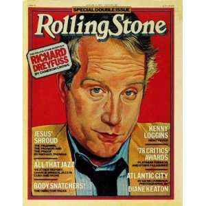 Rolling Stone Cover of Richard Dreyfuss (illustration