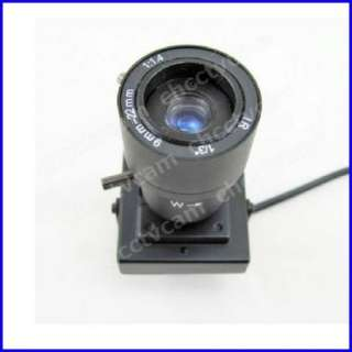 Mini CMOS 9 22mm Manual Lens Audio Color Box Camera Mic