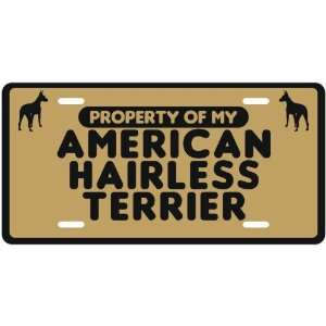 MY AMERICAN HAIRLESS TERRIER  LICENSE PLATE SIGN DOG