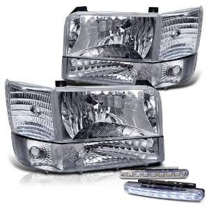 Bronco Head Lights+corner+led Bumper Fog Lamp Pair Set Automotive