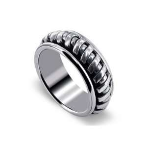 Sterling Silver Mens 10mm Spinning Band Polished Finish Ring Size 13