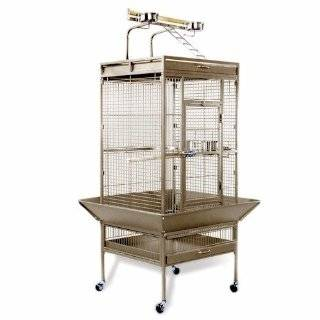 Hendryx 3152C Pet Products Wrought Iron Select Bird Cage, Chalk White