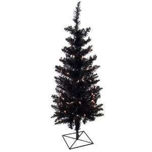 3 Pre Lit Black Ashley Spruce Artificial Christmas Tree