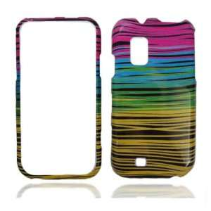 Black Blue Pink Yellow Colorful Strip Line Snap on Design