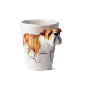 English Bulldog Sculpted Ceramic Dog Coffee Mug  Kitchen