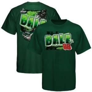 Dale Earnhardt Jr. Youth Green Speedometer T shirt (Large) Sports