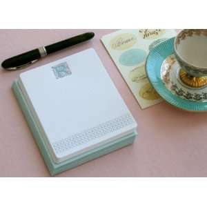 Letterpress Monogram Note Card Set R Health & Personal