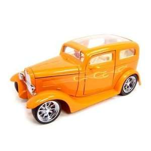1931 FORD MODEL A SEDAN ORANGE 118 DIECAST MODEL