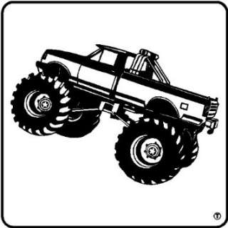 MONSTER TRUCK WALL DECAL STICKERS ART DECOR, MATTE