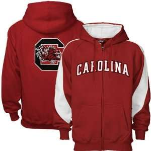 South Carolina Gamecocks Garnet Full Zip Varsity Hoody Sweatshirt