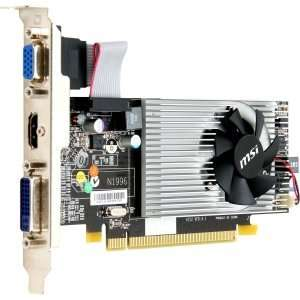 Msi R5450 Md1gd3h Lp Radeon 5450 Graphics Card 1 Gb Ddr3