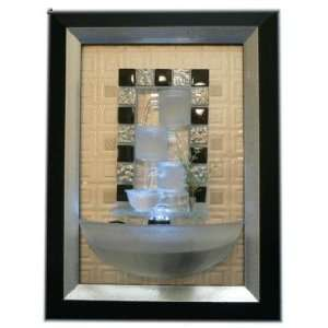 Indoor Wall Water Fountain in Picture Frame with LED 3d