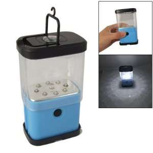 com Amico Camping Black Blue Shell Retractable 2 Modes 9 LEDs Lantern