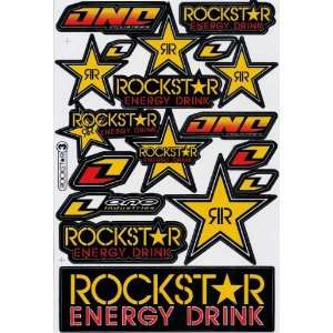 Rockstar Energy ATV Racing Graphic Sticker Decal 1 Sheet