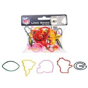 Green Bay Packers Team Logo NFL Bandz Football Silly Rubber Band