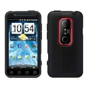 OtterBox Impact Black Silicone Skin Cases for HTC Evo 3D