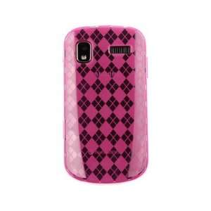 Phone Cover Case Hot Pink Checkers For Samsung Focus Cell Phones