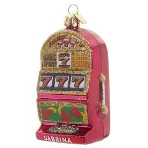 Personalized Slot Machine Christmas Ornament