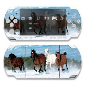 Sony PSP Slim 2000 Decal Skin   Mountain Running Horses