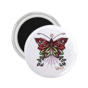 Tattoo Butterfly Art Fridge Souvenir Magnet 2.25