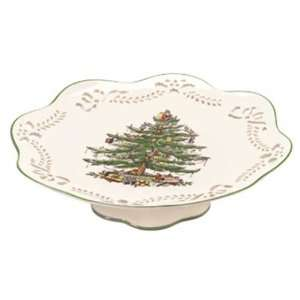 Spode Christmas Tree Scalloped Cake Stand  Kitchen