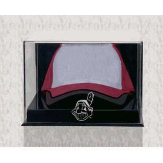 Wall Mounted Acrylic Cap Case (indians Logo) Sports
