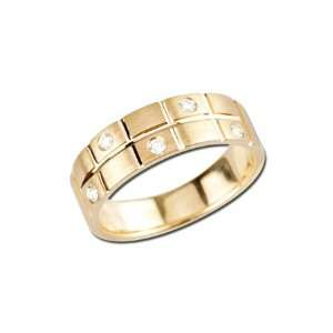 14K Yellow Gold Mens Diamond Ring (G I color) Jewelry