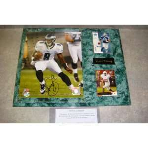 Vince Young Autographed Philadelphia Eagles Wall Plaque w