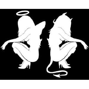 Angel Devil Skin Girl Decal 4.