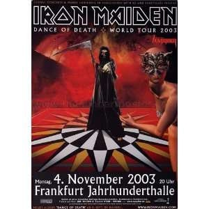 Iron Maiden Dance Of Death 2003   CONCERT POSTER from